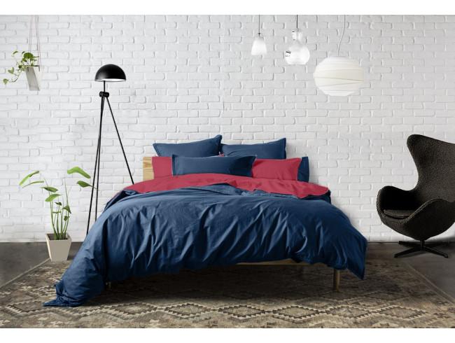 vente priv e linge de lit percale bleu nuit sur les ph nom nes. Black Bedroom Furniture Sets. Home Design Ideas