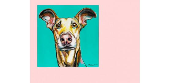 """Dibon """"Paf le chien"""" 60x60 cm"""