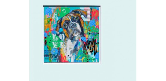 "Dibon ""Lovely dog"" 60x60"