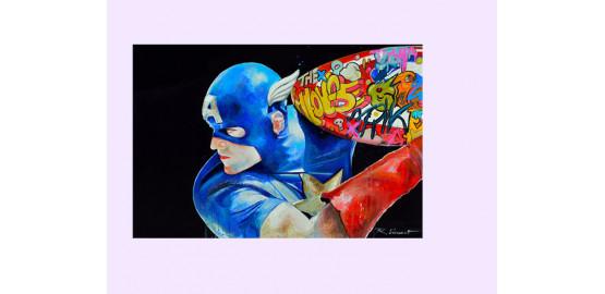 "Dibon ""Captain Americart"" 100x100 cm"