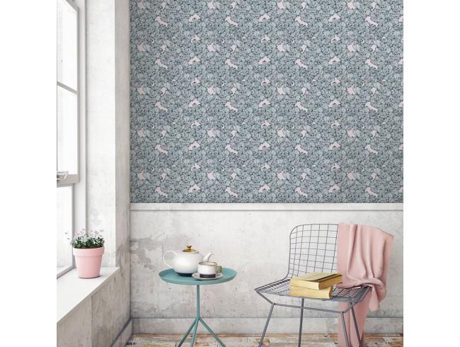 papier peint rose poudr papier peint rose poudre zina. Black Bedroom Furniture Sets. Home Design Ideas