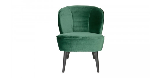 Fauteuil velours vert chaud - Collection Sara - Woood