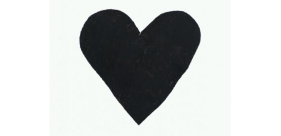 Lot de deux coeurs à suspendre noirs