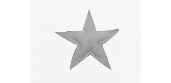 Lot de deux étoiles à suspendre blanches