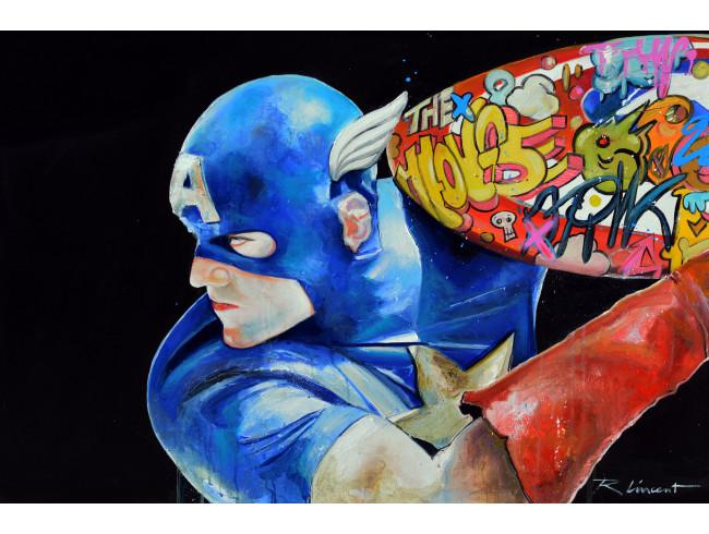 Peinture à l'huile Captain Americart