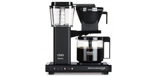 Moccamaster Cafetière filtre Noir mat 1,25 L