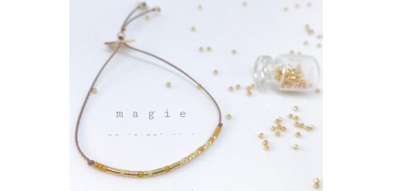 "Bracelet ""Magie"" en morse"