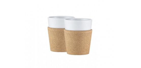 Set de 2 mugs en porcelaine Bistro 0,17l