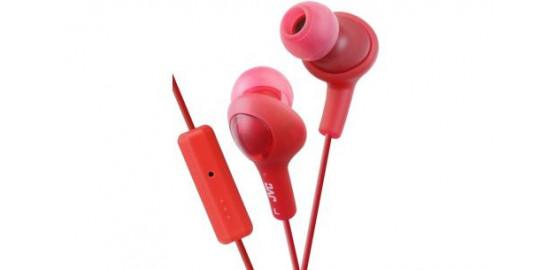 Ecouteurs intra-auriculaires rouge et violet JVC