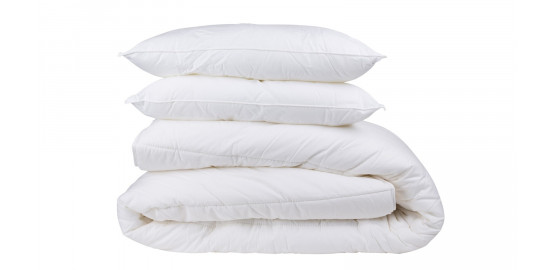 Pack couette 260x240 400g/m² + 2 oreillers 60x60