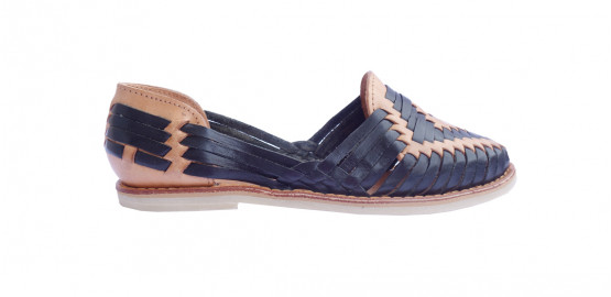 Chaussures Ventanilla Noir/camel Mapache