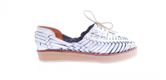 Chaussures Loreto plateforme argent Mapache