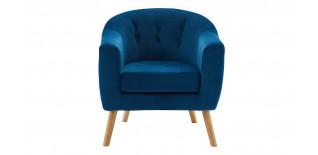 Canapé scandinave 3 places en tissu bleu Odda