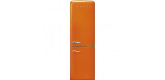 SMEG refrigerateur combine 229L+75L Orange fab32ron1