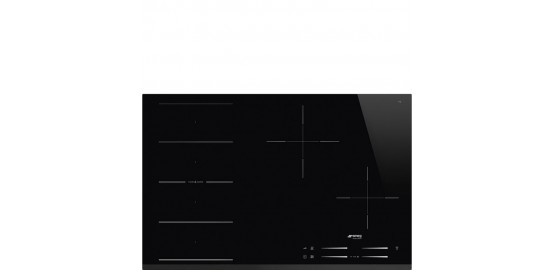 SMEG table induction 4 zones flexizone noir si1f7845b