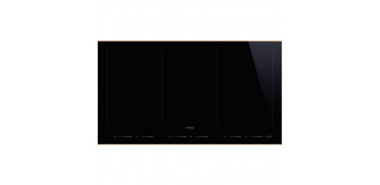 SMEG table induction 3/6 zones noir SIM693WLDR