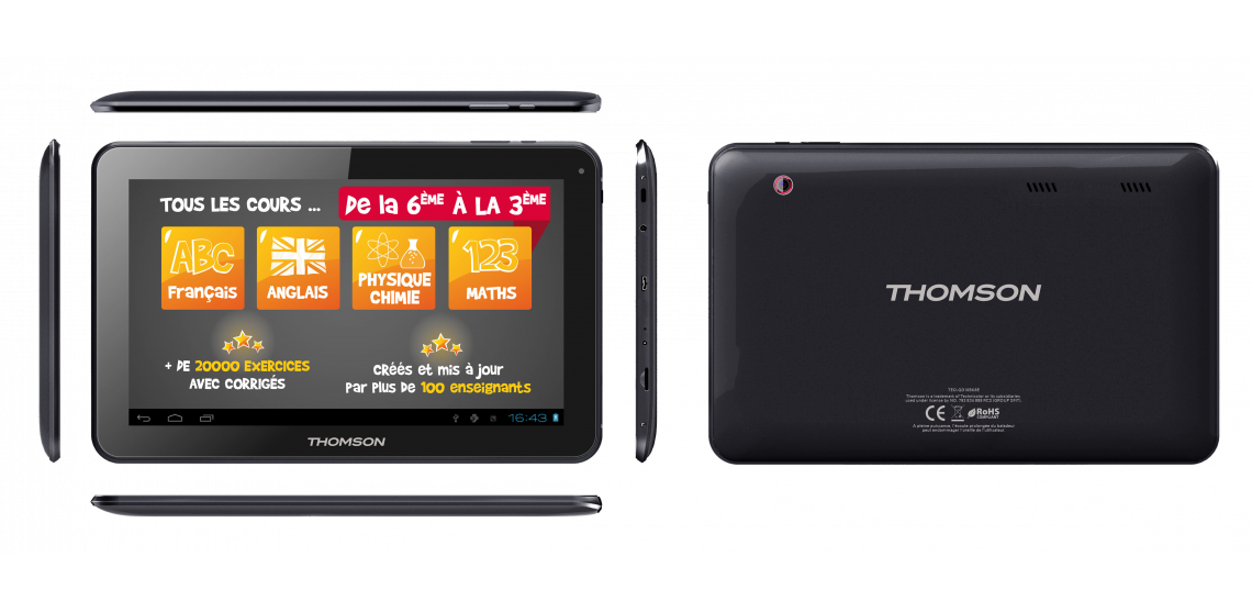 THOMSON Tablette 10'' TEO TEO-QD10BK8E 8 Go sous Android tablet