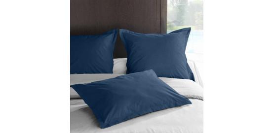 Taie d'oreiller percale, bleu nuit